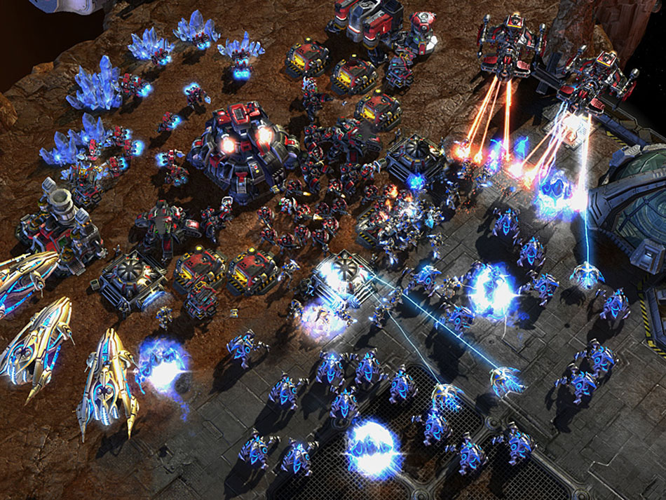 Starcraft 2 Terran's surrounded by Protoss